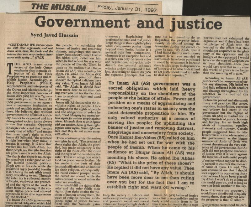 Government and Justice