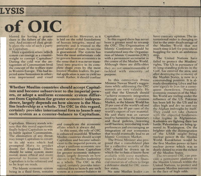 Relevance of OIC