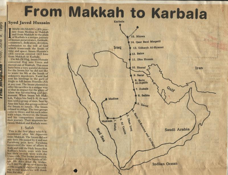 From Makkah to Karbala