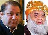 Nawaz Sharif and Maulana Fazal ur Rehman