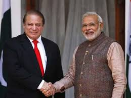 Nawaz with Indian PM